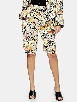 Topshop Topshop Idol Oriental Printed Shorts - Multi Picture