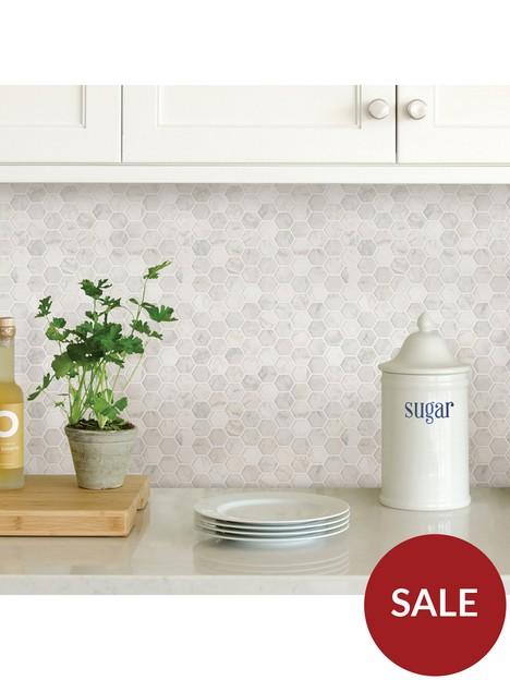 inhome-pack-of-4-hexagon-marble-peel-amp-stick-backsplash-tiles