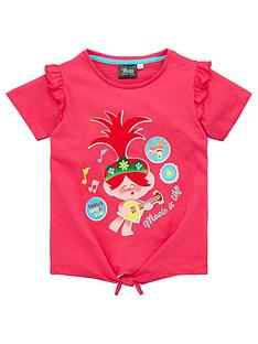 dreamworks-trolls-girls-tie-detail-music-is-life-t-shirt-pink