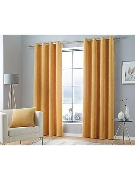 Curtina Curtina Kilbride Cord Lined Eyelet Curtains Picture