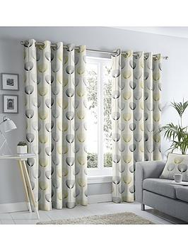 Fusion Fusion Delta Lined Eyelet Curtains Picture