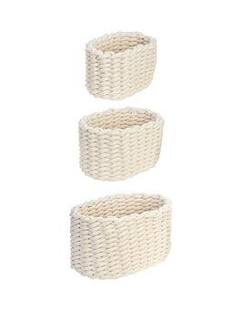 Very Set 3 Cotton Weaved Baskets Picture