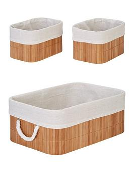 Very Set 3 Bamboo Baskets Picture