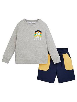 V by Very V By Very Boys Sweat And Jog Short Set - Multi Picture