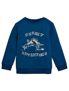 V by Very V By Very Boys Desert Adventure Sweatshirt - Blue Picture