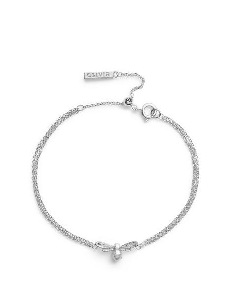 olivia-burton-olivia-burton-lucky-bee-chain-bracelet-silver