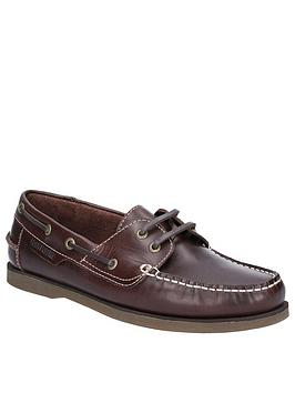 Hush Puppies Hush Puppies Henry Boat Shoes - Dark Brown Picture