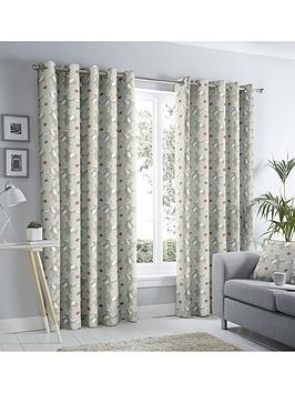 Fusion Fusion Aura Lined Eyelet Curtains Picture