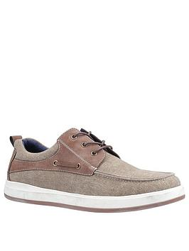 Hush Puppies Hush Puppies Aiden Boat Shoes - Khaki Picture