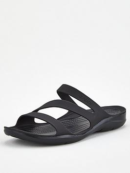 Crocs Crocs Swiftwater Flat Sandal - Black Picture