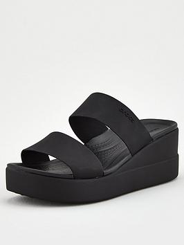 Crocs Crocs Brooklyn Mid Wedge Mule Sandal - Black Picture