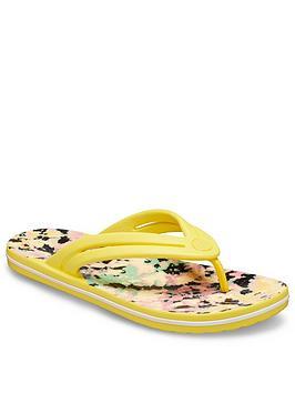 Crocs Crocs Crocband Tie Dye Mania Flip Flop - Yellow Picture