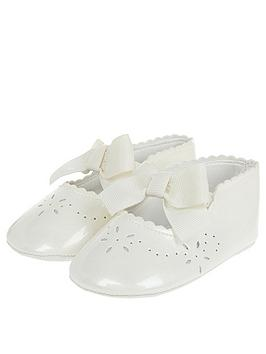 Monsoon Monsoon Baby Girls Flora Ivory Patent Bootie - Ivory Picture