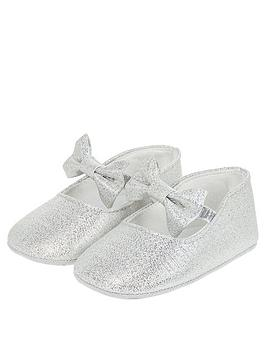 Monsoon Monsoon Baby Girls Everly Silver Shimmer Bootie - Silver Picture