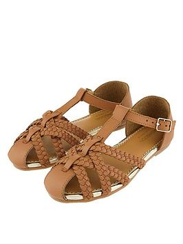 Monsoon Monsoon Girls Luciana Caged Leather Sandal - Tan Picture