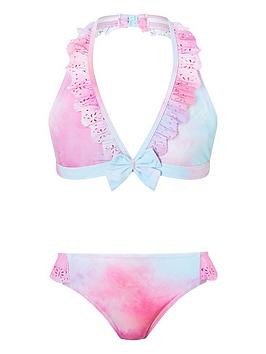 Monsoon Monsoon Girls Alice Tie Dye Bikini - Pink Picture