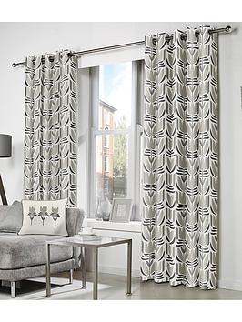 Fusion Fusion  Haldon Lined Eyelet Curtains Picture