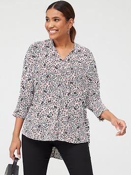 V by Very V By Very Notch Neck Longline Tunic - Floral Print Picture