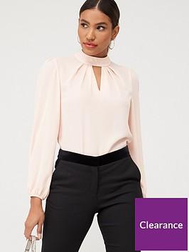 v-by-very-high-neck-keyhole-shell-blouse-blush