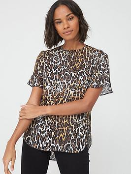 v-by-very-ruffle-sleeve-shell-top-leopard-print