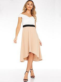 quiz-contrast-hanky-hem-dress-neutral