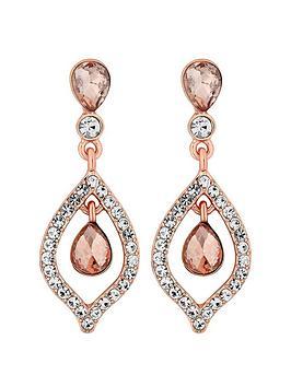 Mood Mood Double Teardrops Rose Gold Earrings Picture