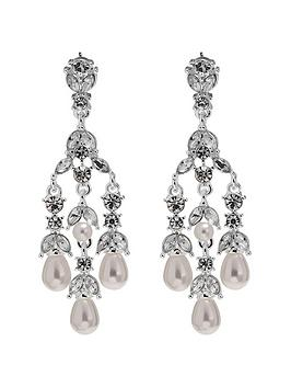 Very Mood Pearl Droplet Midi Chandelier Earrings Picture