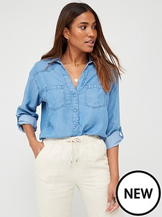 v-by-very-valuenbspsoft-touch-denim-casual-shirt-denim