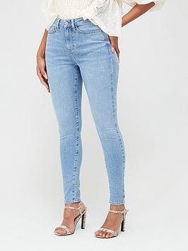 V by Very V By Very Florence High Rise Skinny Jeans - Light Wash Picture