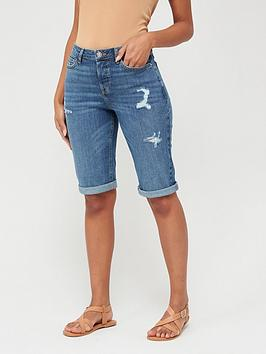 V by Very V By Very Taylor Boyfriend Shorts - Mid Wash Picture