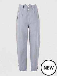 v-by-very-high-waist-barrel-leg-trouser-grey