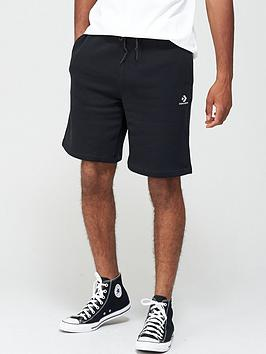 converse-embroiderednbspstar-chevron-shorts-black