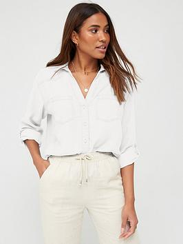 V by Very V By Very Soft Touch Casual Shirt - White Picture