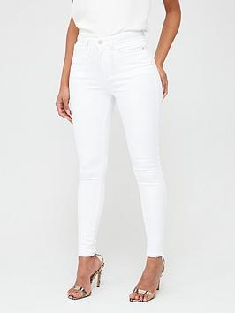 V by Very V By Very Florence High Rise Skinny Jeans - White Picture