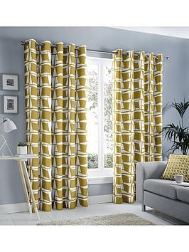 Fusion Fusion Capella Lined Eyelet Curtains Picture