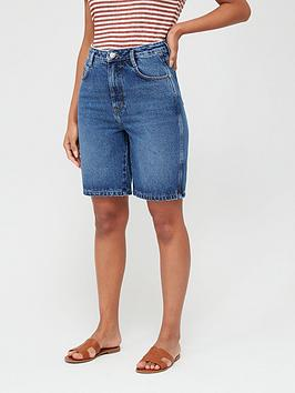 V by Very V By Very Bermuda Denim Shorts - Mid Wash Picture