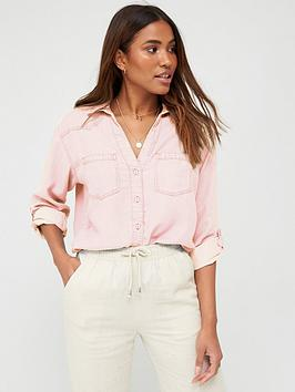 V by Very V By Very Soft Touch Casual Shirt - Pink Picture