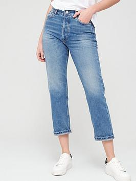 V by Very V By Very The High Waist Straight Leg Jean - Mid Wash Picture