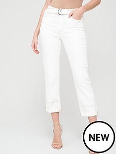 v-by-very-high-waist-belted-straight-jean-ecru