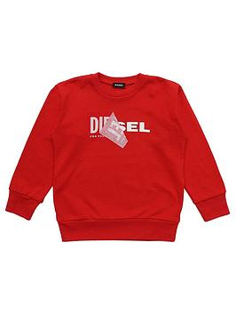 Diesel Diesel Boys Double Logo Crew Sweat Picture