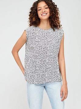 Warehouse Warehouse Ditsy Floral Tiered Tee - Black Picture