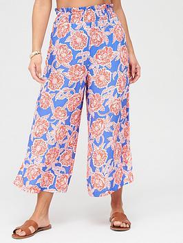Pour Moi Pour Moi Textured Wide Crop Trouser - Multi Picture