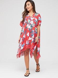 pour-moi-miami-brights-tassel-cover-up-red