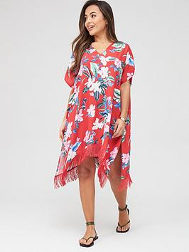 Pour Moi Pour Moi Miami Brights Tassel Cover Up - Red Picture