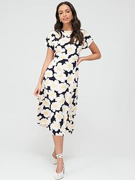 Warehouse Warehouse Nicky Floral Midi Dress - Multi Picture
