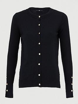 v-by-very-button-sleeve-detail-cardigan-black