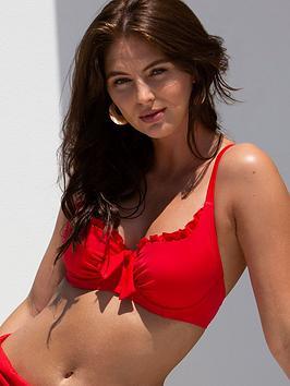 Pour Moi Pour Moi Santa Monica Multiway Underwired Bikini Top - Red Picture