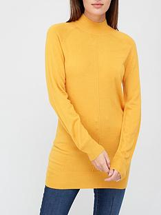v-by-very-super-softnbspfront-seam-detail-longline-jumper-mustard