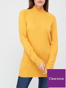 v-by-very-valuenbspsuper-softnbspfront-seam-detail-longline-jumper-mustard