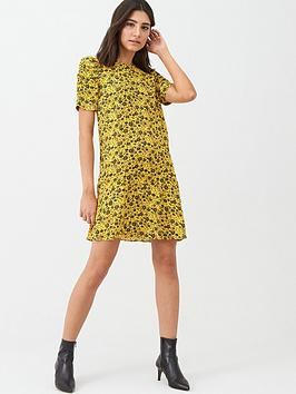 WHISTLES Whistles Trailing Daisy Georgina Dress - Yellow Multi Picture